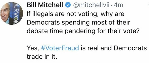 tweet if illegals arent voting why are democrats pandering