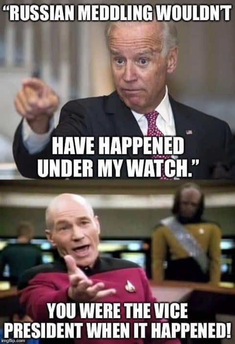 biden russian meddling wouldnt happen my watch your were vp