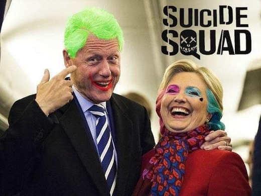 bill hillary clinton suicide squad