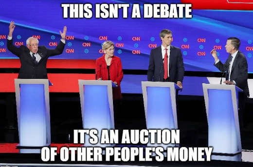 democratic debate this isnt a debate its auction of other peoples money