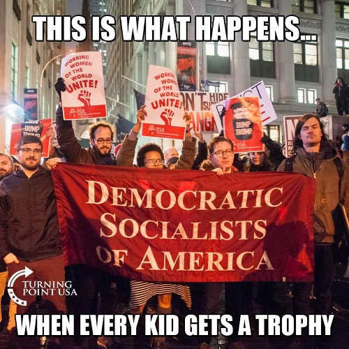 democratic socialists of america what happens when everyone gets trophy