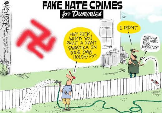 fake hate crimes for dummies nazi swastika