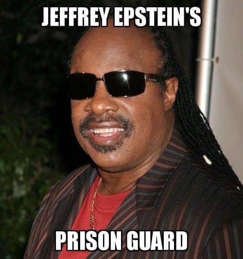 jeffrey epstein prison guard stevie wonder