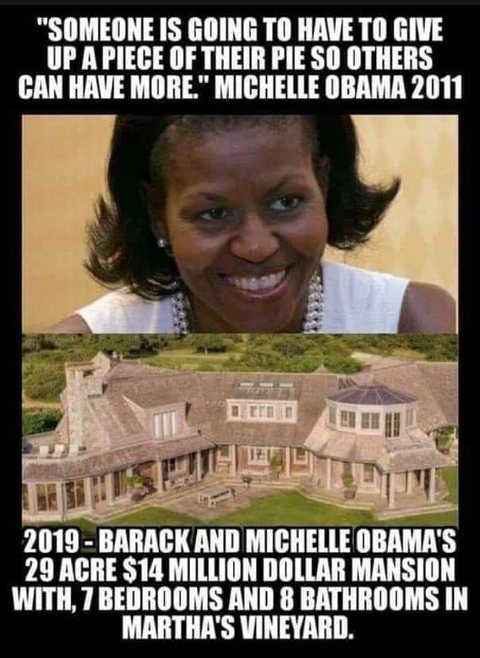 michele obama someone has to give up piece of pie new 15 million mansion