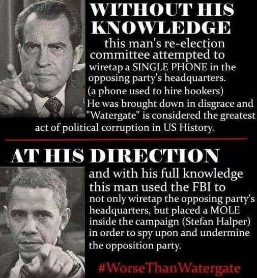 nixon watergate comparison wiretapping obama