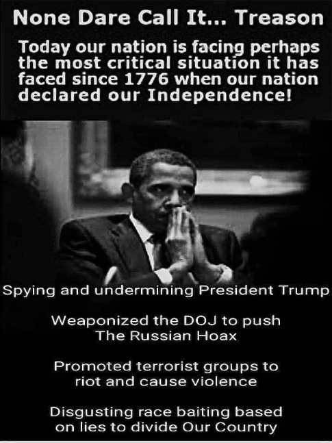 none dare call it treason spying on trump weaponizing intelligence race baiting to divide country