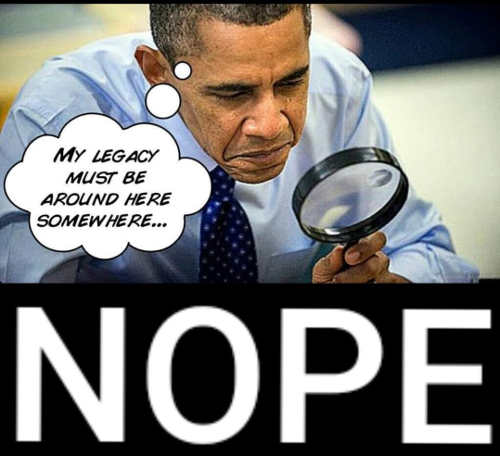 obama nope cant find legacy