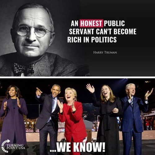 quote honest public servant cant get rich hillary bill clinton barack obama we know