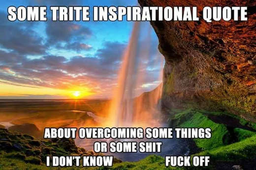 some trite inspirational quote about overcoming some shit i dont know fuck off