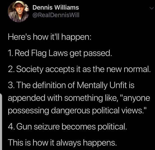 tweet heres how it happens on red flag laws taking guns dennis williams