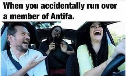 when you accidentally run over antifa with car