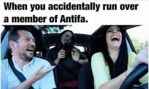 when you accidentally run over antifa with car