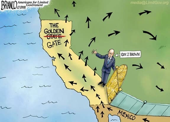 california golden gate letting all illegal immigrants into country