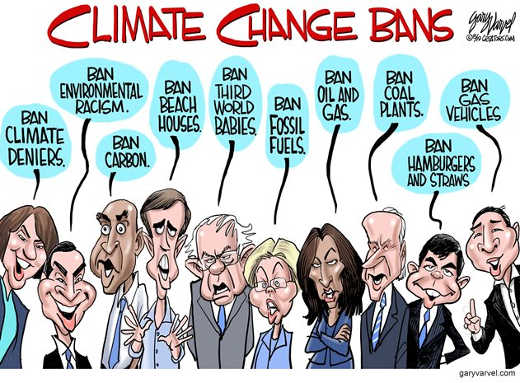 climate change bans democrats meat deniers aoc sanders warren