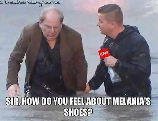 cnn sir how do you feel about melanias shoes flood zones