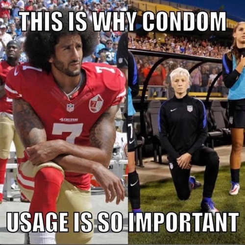 colin kaepernick this is why condom usage is so import