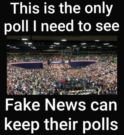 huge trump crowd only poll need to see dont believe fake news polls