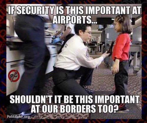 if security this important at airports why not at border scanning girl