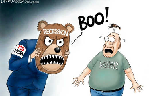 mainstream media boo recession to scare voter
