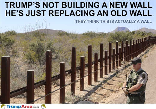mainstream media not building new wall replacing old one
