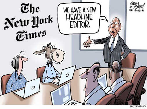 new york times we have new headline editor democrat
