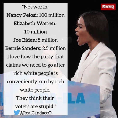 quote candace owens net worth of pelosi warren biden sanders rich white people