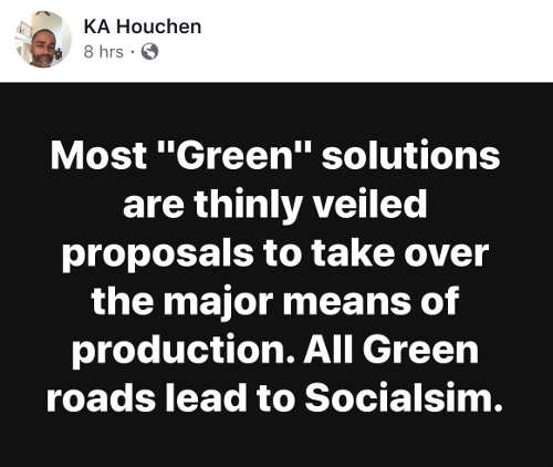 quote most green solutions thinly veiled socialism
