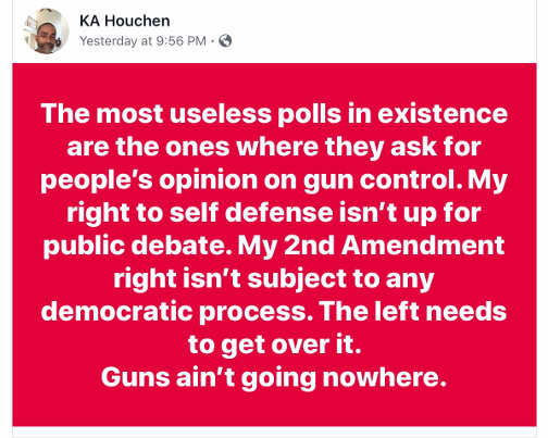 quote most useless polls in existence gun control constitutional right