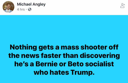 quote nothing gets mass shooter off news faster than discovering beto bernie socialist