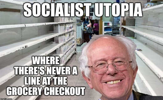 socialist utopia bernie sanders where theres never a line at grocery checkout