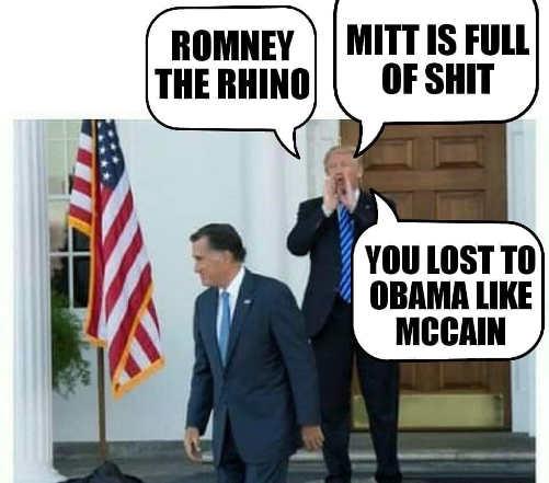 trump calling mitt romney rino jull of shit