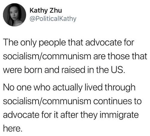 tweet only people who advocate socialism communism people born in capitalist