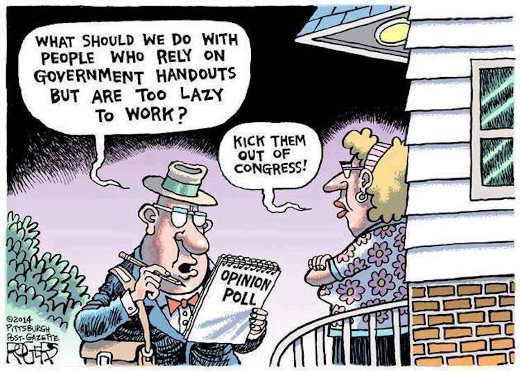 what to do with people in government rely on handouts kick them out of congress