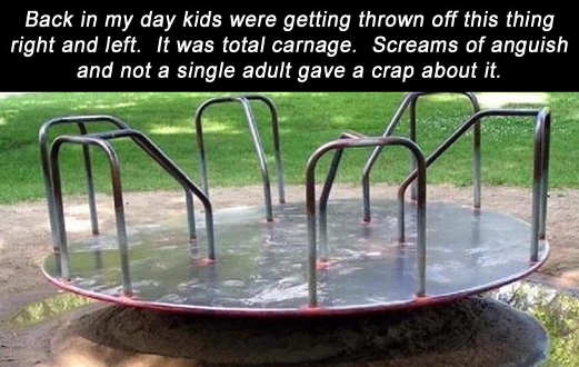 back in my day merry go around total carnage adults didnt care