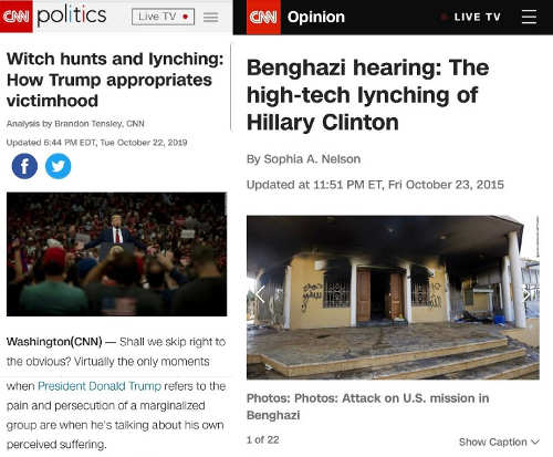 cnn comparison benghazi vs trump hearings