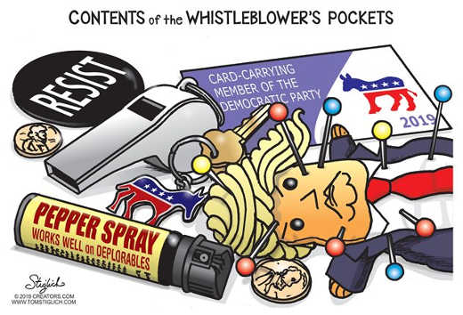 contents of whistleblower pockets trump voodoo doll resist dnc