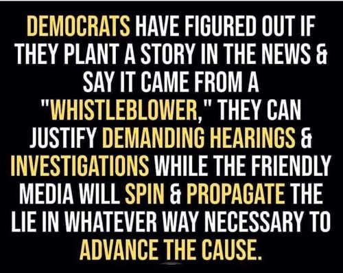 democrats have figured out plant whistleblower justify new investigations