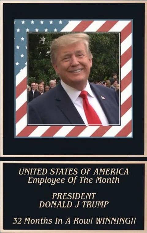 donald trump employee of month president winning