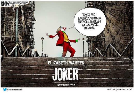 elizabeth warren joker extreme leftist