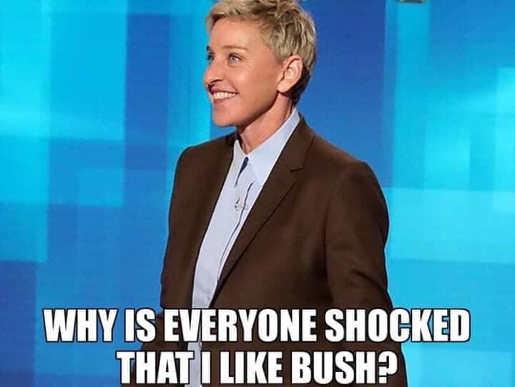 ellen digernes why is everyone shocked that i like bush