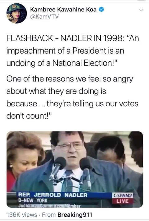 flashback adler in 1998 on impeachment of president
