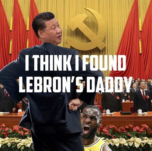 found lebrons daddy chine president