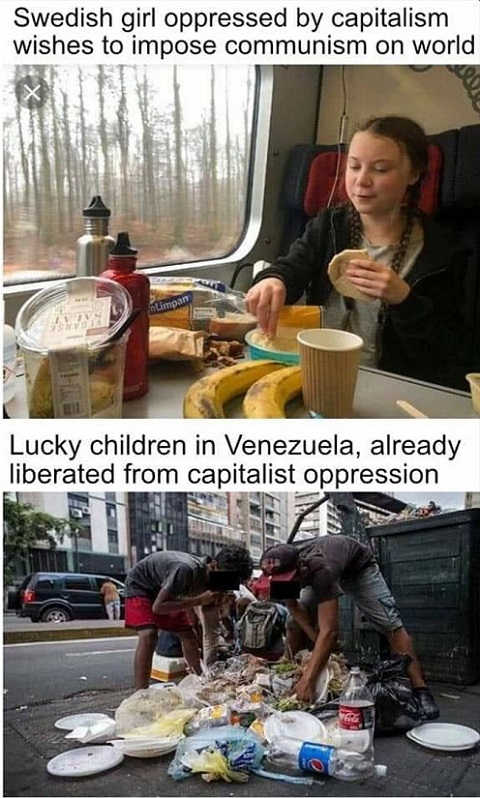 greta thurnberg saving world from capitalism vs venezuela who already have communism