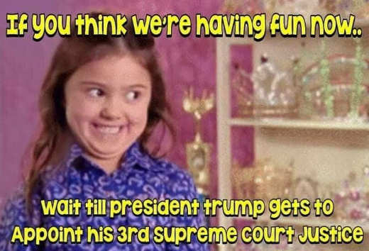 if youre having fun now wait until trump appoints 3rd supreme court justice
