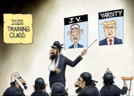 isis training class obama jv trump varsity