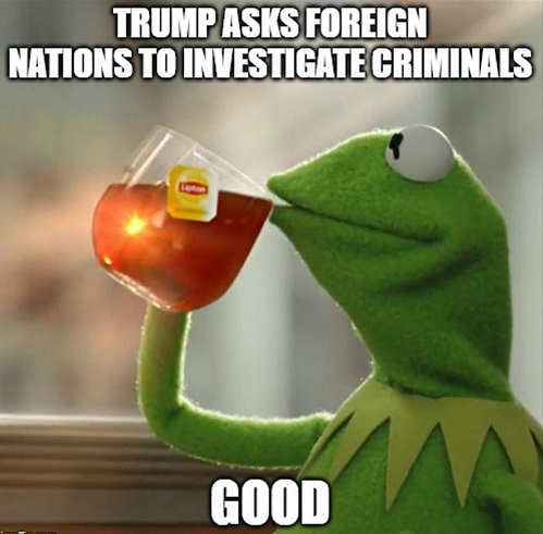 kermit trump asks foreign nations to investigate criminals good
