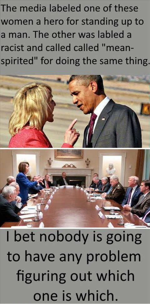 media labeled jan brewer disrespectful point obama pelosi courageous