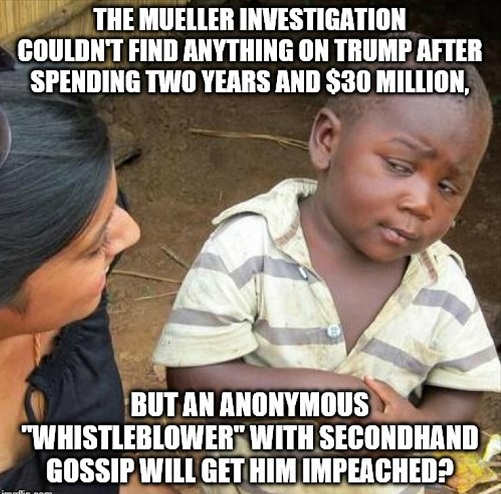 mueller 2 year 30 million couldnt get him impeached but anonymous whistleblower will