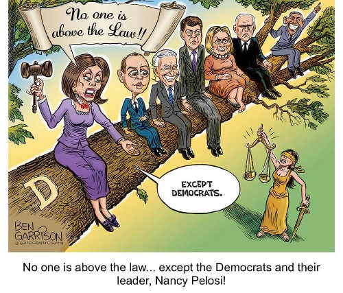 pelosi schiff biden hillary obama no one is above the law except democrats