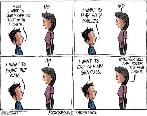 progressive liberal parenting gender choice